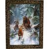Картина Охота на медведя с рогатиной M1-R11