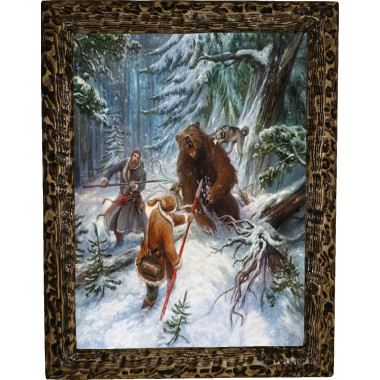 Картина Охота на медведя с рогатиной