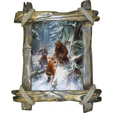 Картина Охота на медведя с рогатиной M1-R2