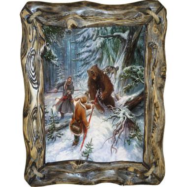 Картина Охота на медведя с рогатиной M1-R4