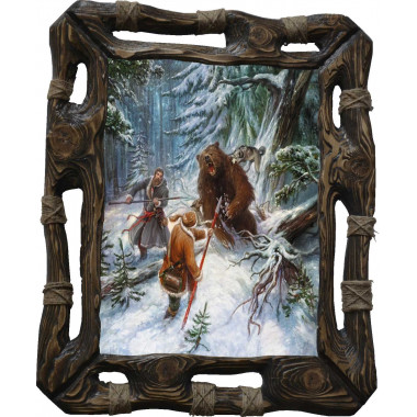 Картина Охота на медведя с рогатиной M1-R8
