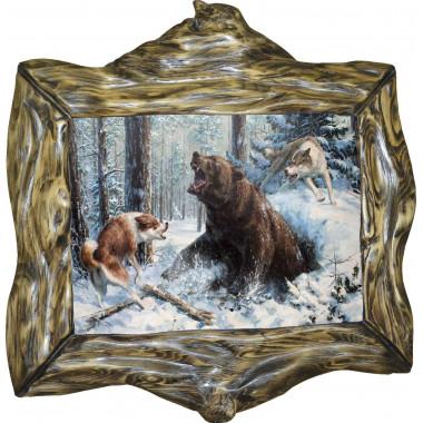 Картина Охота на медведя M14-R10
