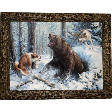 """Картина """"Охота на медведя"""" M14-R11"""