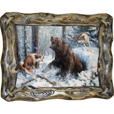 """Картина """"Охота на медведя"""" M14-R4"""