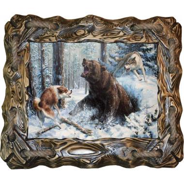 """Картина """"Охота на медведя"""" M14-R6"""