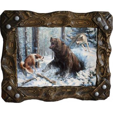 Картина Охота на медведя M14-R7