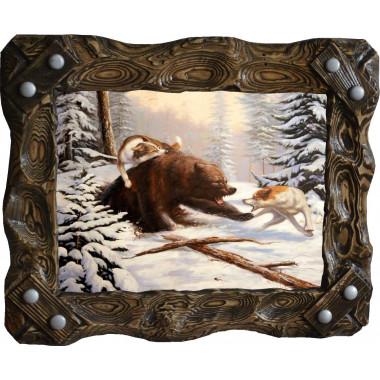 """Картина """"Охота на медведя 2"""" M27-R7"""