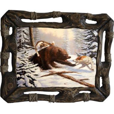 """Картина """"Охота на медведя 2"""" M27-R8"""