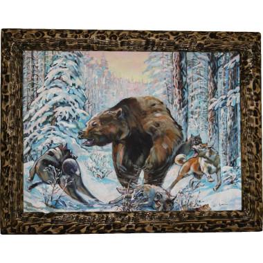Картина Охота на медведя 3
