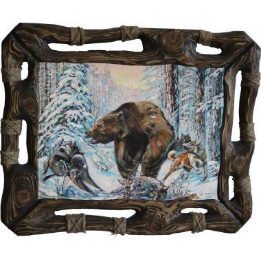 Картина Охота на медведя 3 M28-R8