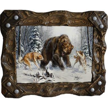 """Картина """"Охота на медведя 4"""" M30-R7"""
