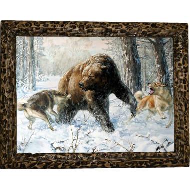 """Картина """"Охота на медведя 5"""" M31-R11"""