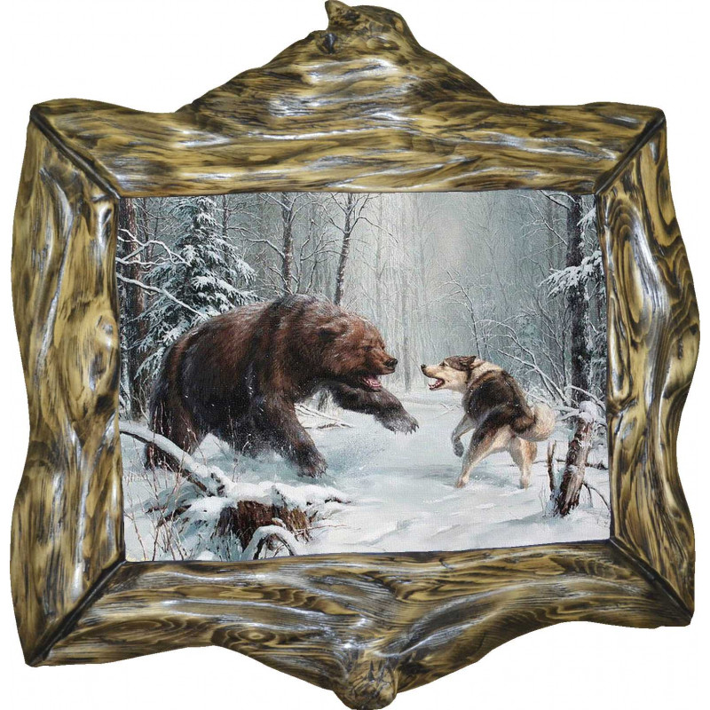 Декупаж картинки охота на медведя