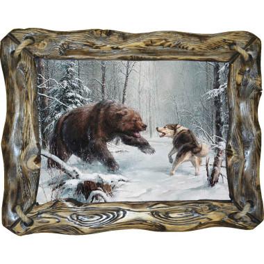 """Картина """"Охота на медведя 6"""" M32-R4"""