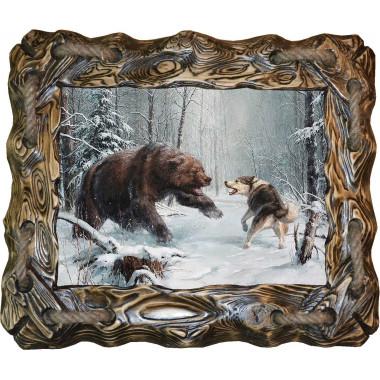 """Картина """"Охота на медведя 6"""" M32-R6"""