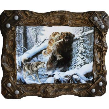 """Картина """"Охота на медведя 7"""" M33-R7"""