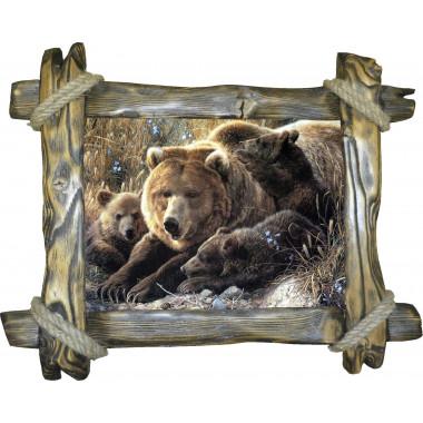 "Картина ""Медведица и медвежата"" M6-R2"