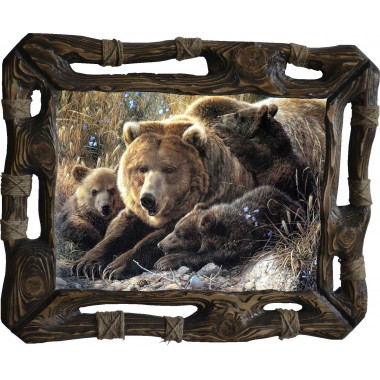 "Картина ""Медведица и медвежата"" M6-R8"