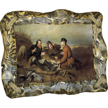 Картина Охотники на привале P4-R1