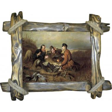 Картина Охотники на привале P4-R2