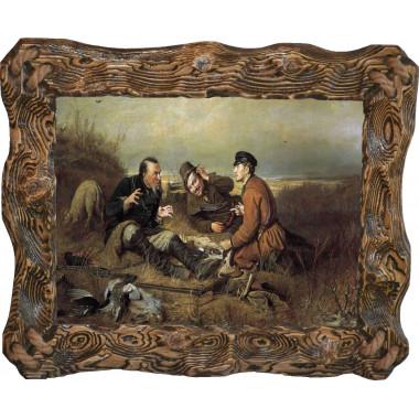 Картина Охотники на привале P4-R5