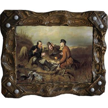 Картина Охотники на привале P4-R7