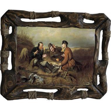 "Картина ""Охотники на привале"" P4-R8"