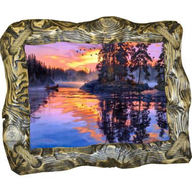 """Картина """"Закат над рекой"""" N100-R1"""