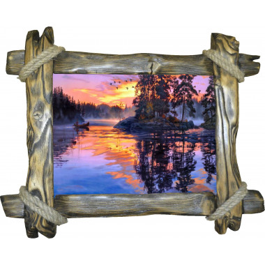 Картина Закат над рекой N100-R2