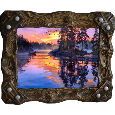 """Картина """"Закат над рекой"""" N100-R7"""