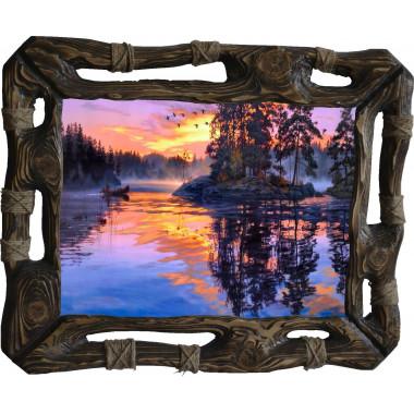 Картина Закат над рекой N100-R8