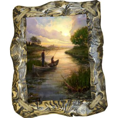 Картина рыбаки в лодке C3-R1