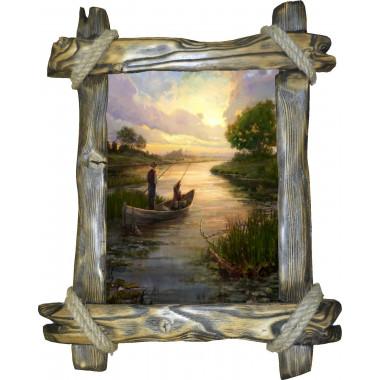 Картина рыбаки в лодке C3-R2
