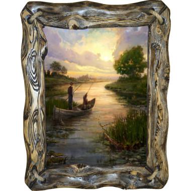 Картина рыбаки в лодке C3-R4