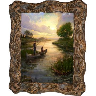 Картина рыбаки в лодке C3-R5