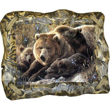 Картина Медведица и медвежата M6-R1