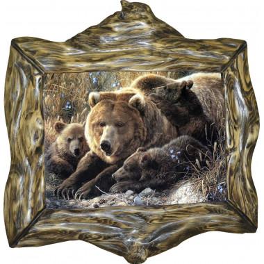 "Картина ""Медведица и медвежата"" M6-R10"