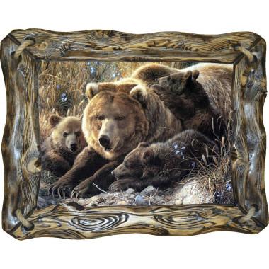 "Картина ""Медведица и медвежата"" M6-R4"