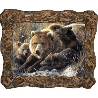 "Картина ""Медведица и медвежата"" M6-R5"