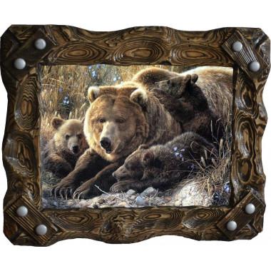 Картина Медведица и медвежата M6-R7